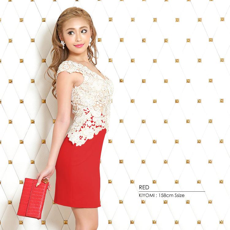 ミニドレス ワンピース フラワー刺繍 花刺繍 タイトドレス パーティー 女子会(AR7311)