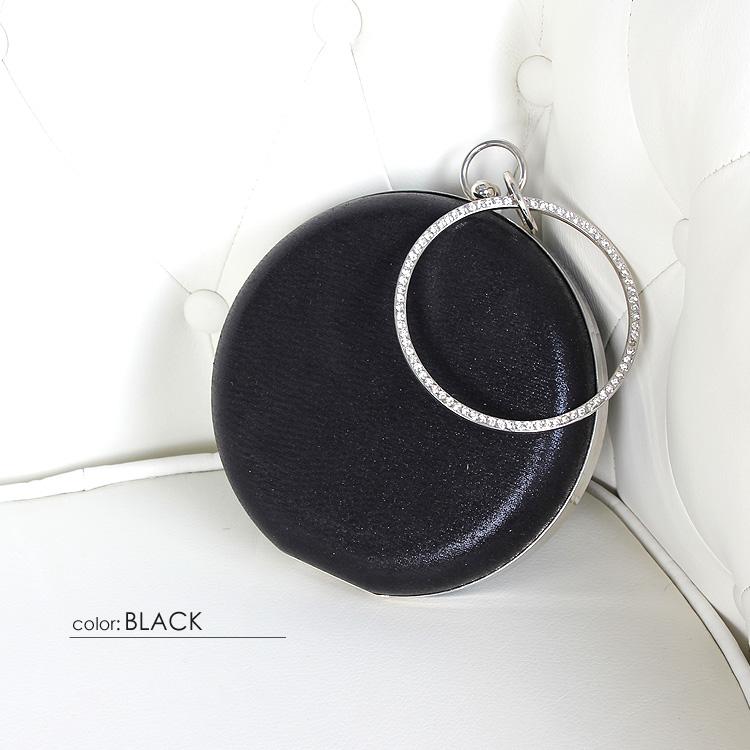 バッグ BAG ハンドバッグ 2way ビーズ ビジュー ストーン 円形 小物入れ ドレス フォーマル パーティー 女子会(BG013)